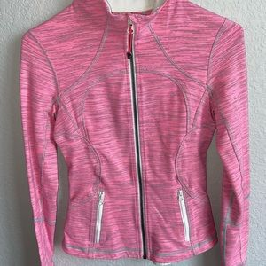 Lululemon Define Jacket (pink and white stripe)
